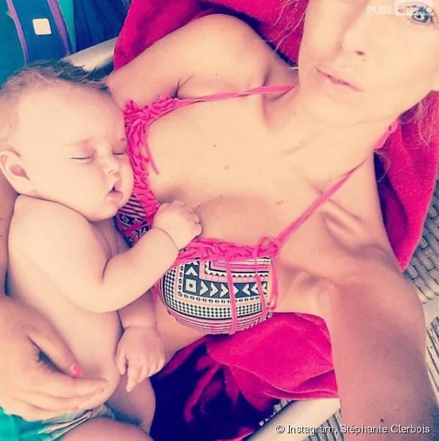 Stéphanie Clerbois avec son fils Lyam sur Instagram