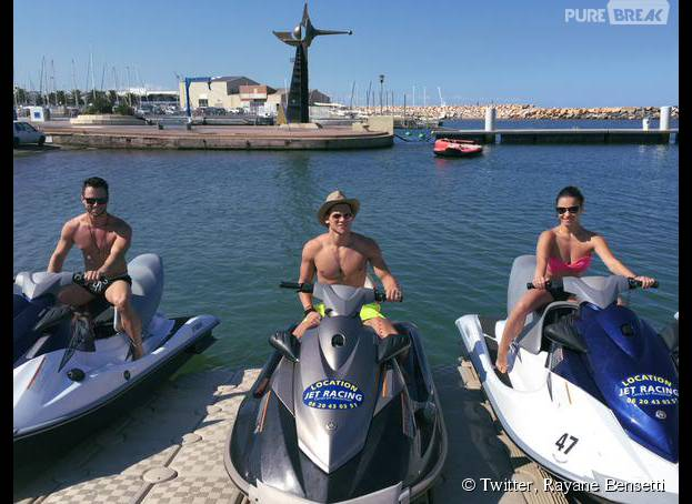 Rayane Bensetti : séance de jet-ski avec Christian Millette et Denitsa Ikonomova