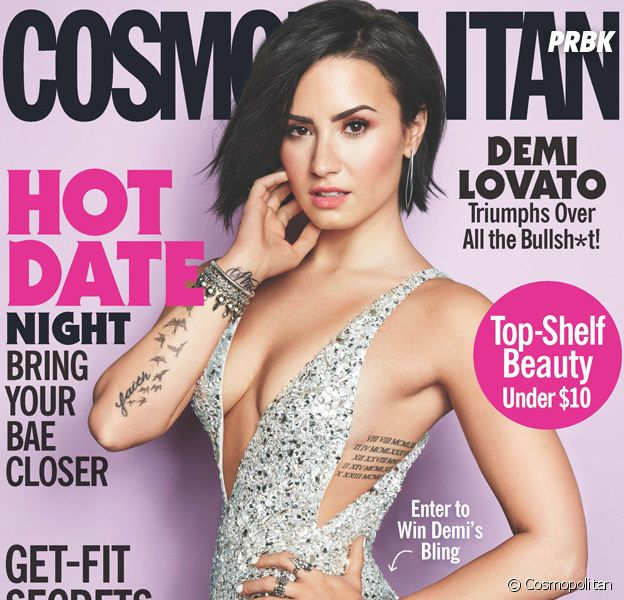 Demi Lovato sexy en Une du magazine américain Cosmospolitan