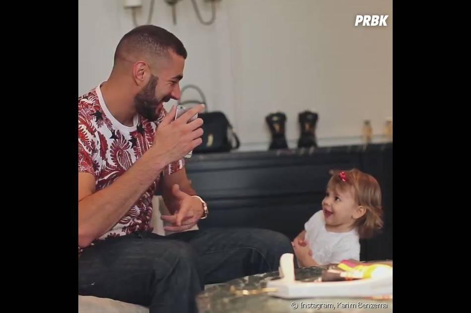 Karim Benzema avec sa fille Méliasur Instagram, le 11 août 2015
