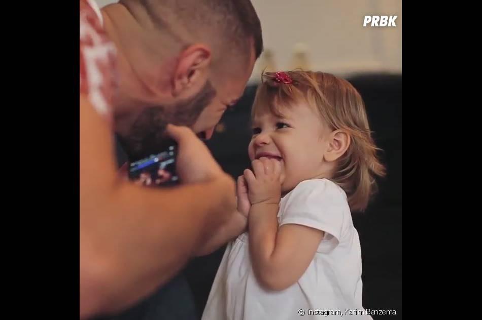 Karim Benzema gaga de sa fille Méliasur Instagram, le 11 août 2015