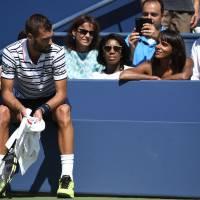 Shy'm soutient Benoît Paire face à Jo Wilfried Tsonga à l'US Open