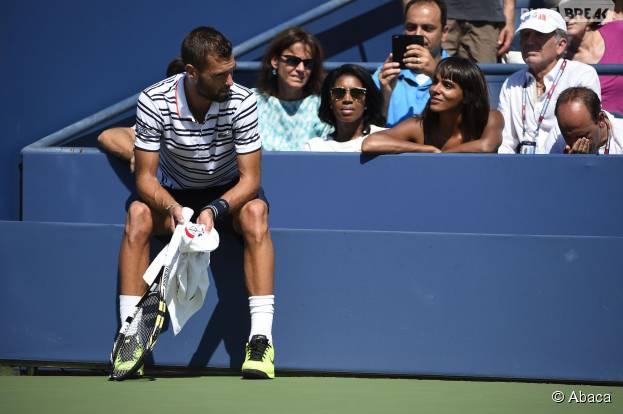 Shy'm à l'US Open le 6 septembre 2015 pour soutenir Benoît Paire face à Jo-Wilfried Tsonga