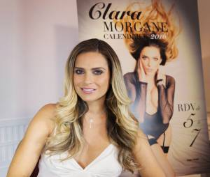 Clara Morgane fête la sortie de son calendrier 2016, au Majestic Hotel, le 25 septembre 2015