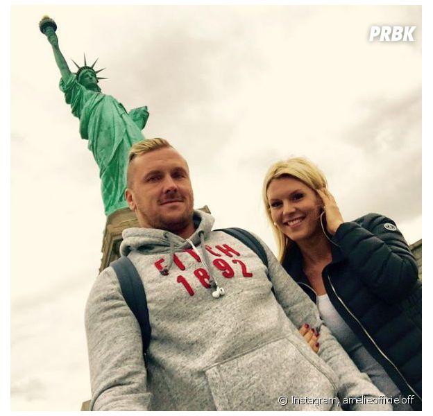 Amélie Neten et son petit-ami Philippe Léonard, à New-York, le 2 octobre 2015