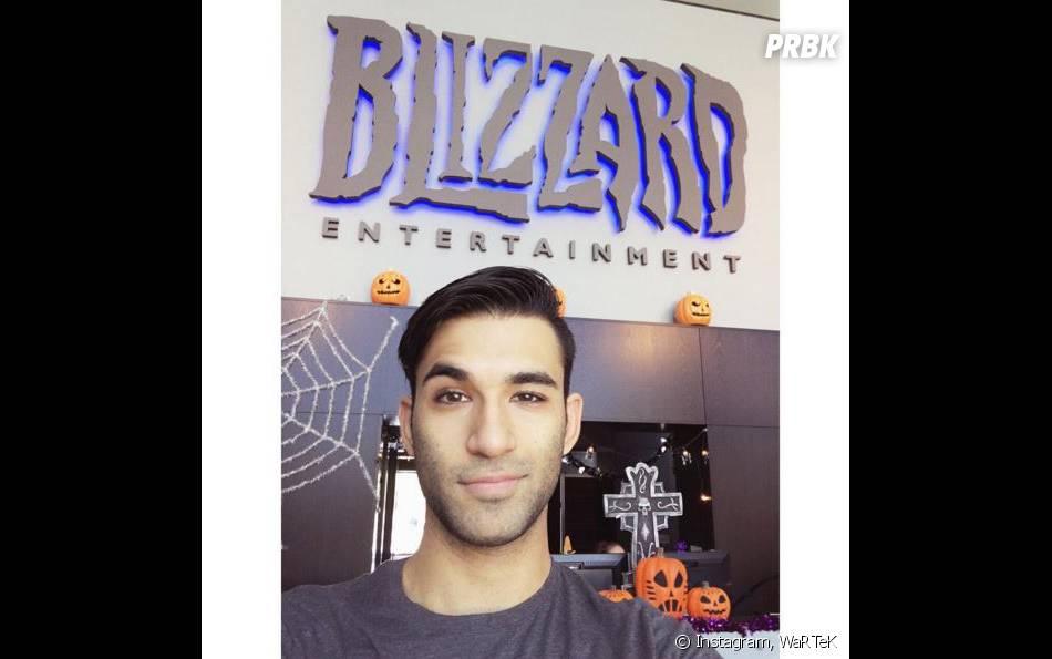 WaRTeK au QG de Blizzard sur Instagram