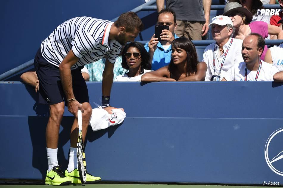 Shy'm soutient Benoît Paire à l'US Open le 6 septembre 2015 lors de son match face à Jo-Wilfried Tsonga
