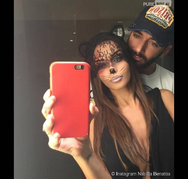 Nabilla Benattia et Thomas Vergara se retrouvent pour Halloween le 31 octobre 2015