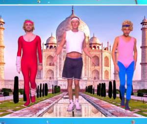 Bertrand Chameroy dans le tuto 4 de la Delormeau Dance, le 5 novembre 2015 sur D8