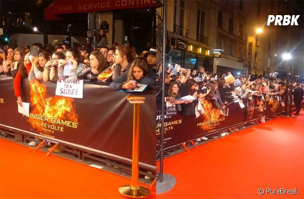 Hunger Games 4 : les fans rassemblés pour l'avant-première à Paris le 9 novembre 2015