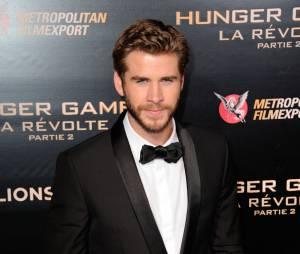 Liam Hemsworth à l'avant-première de Hunger Games 4 à Paris le 9 novembre 2015