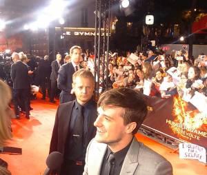 Josh Hutcherson sur le tapis rouge à l'avant-première de Hunger Games 4 à Paris le 9 novembre 2015