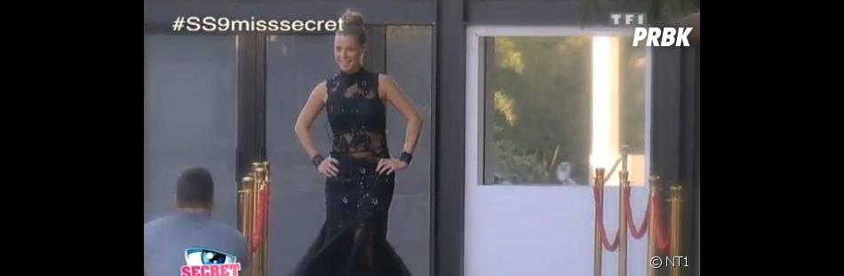 Emilie (Secret Story 9) sexy en robe lors de l'élection de Miss Secret