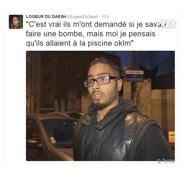 """Attentats de Paris : Twitter se moque de Jawad, le """"logeur de Daesh"""" après l'assaut du RAID à Saint Denis"""