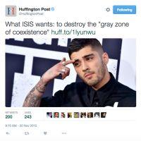 Zayn Malik visage des terroristes de Daech ? Le fail qui fait enrager Twitter