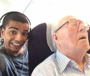 Brahim Zaibat et Jean-Marie Le Pen, un selfie contre le FN
