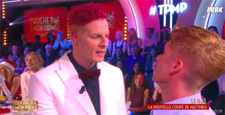 Matthieu Delormeau : cheveux roses dans le prime de TPMP le 17 décembre 2015