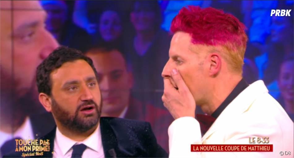 Matthieu Delormeau choqué par ses cheveux rose dans le prime de TPMP le 17 décembre 2015