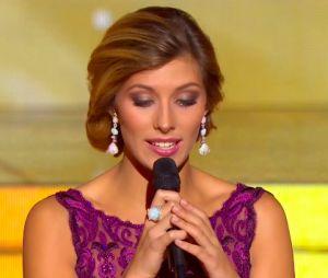 Camille Cerf lors de la soirée Miss France 2016, le 19 décembre 2015 à Lille