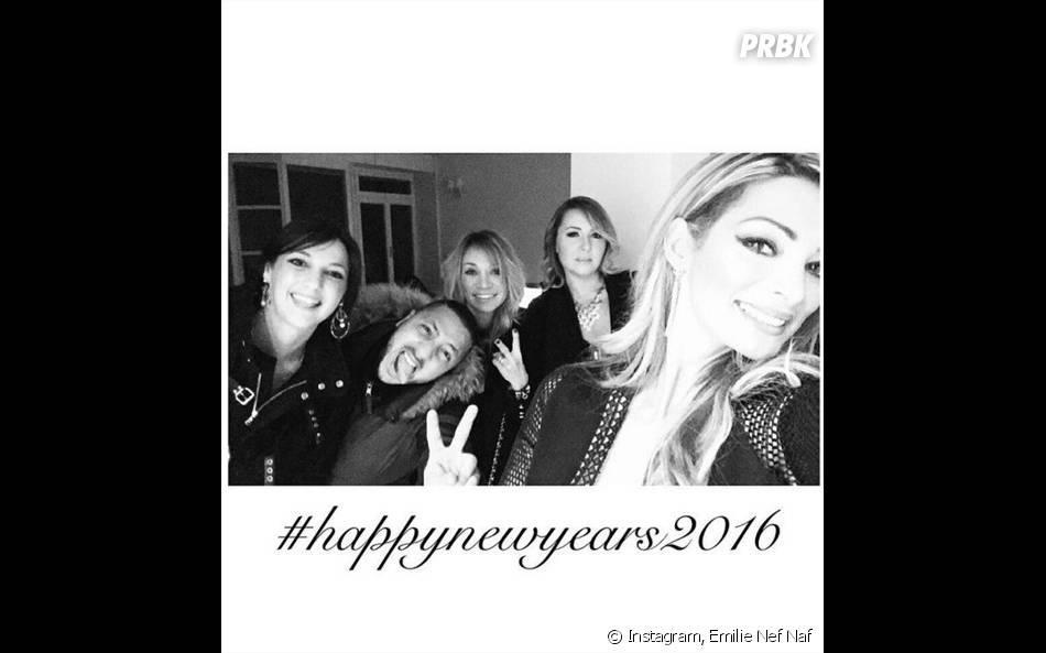 Emilie Nef Naf fête le passage à 2016 sur une photo Instagram