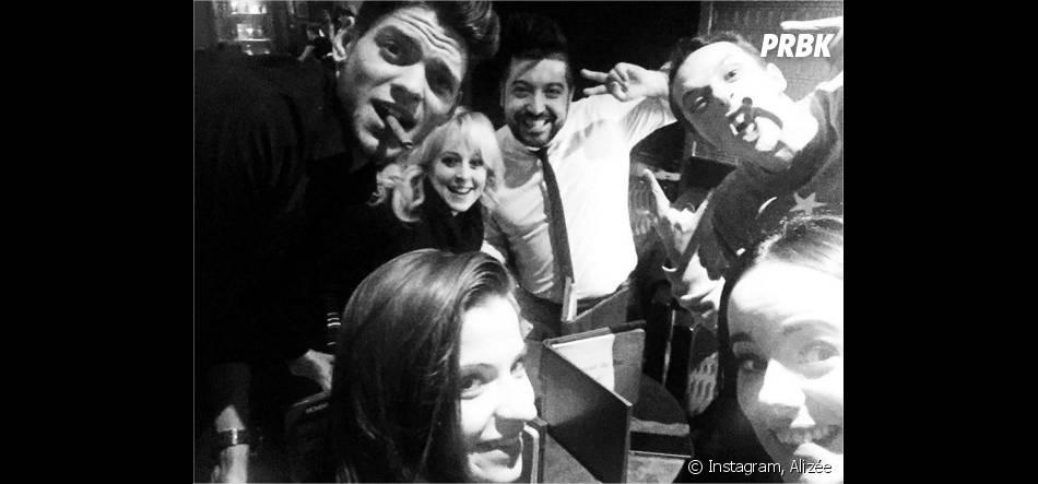 Alizée, Grégoire Lyonnet, Rayane Bensetti, Denista Ikonomova, Chris Marqèset Jaclyn Spencer fêtent 2016 à Disneyland Paris pour le réveillon