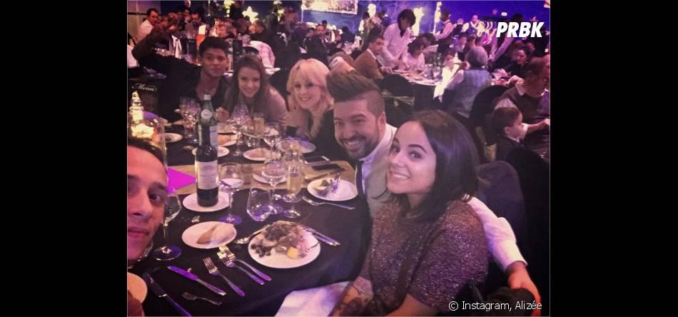 Rayane Bensetti, Denitsa Ikonomova, Jaclyn Spencer, Chris Marquès, Alizée et Grégoire Lyonnet à Disneyland Paris pour le réveillon du 31 décembre 2015