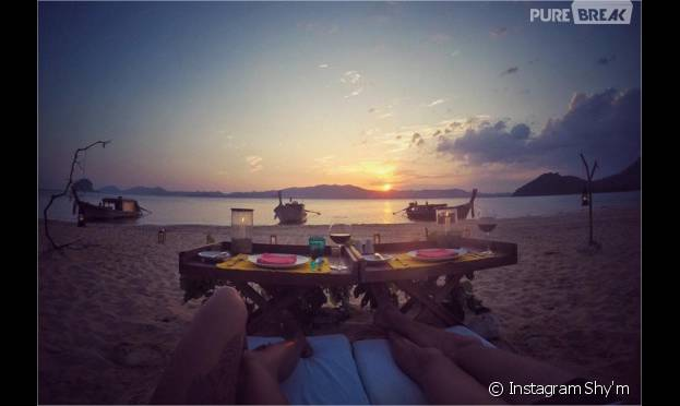 Shy'm en vacances en Thaïlande pour le nouvel an 2016