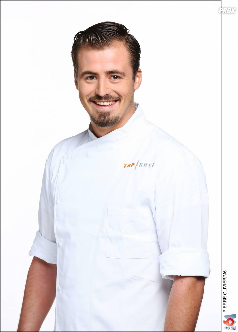 """Top Chef 2016 :Pierre Eon (25 ans) : Chef Adjoint dans le restaurant """"Maison et Hôtel Sibuet"""" (Saint-Tropez, Var) / Son Mentor: Olivier Roellinger"""