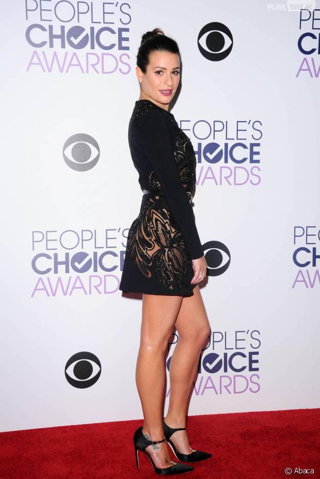 People's Choice Awards 2016 : Lea Michele sur le tapis rouge le 6 janvier