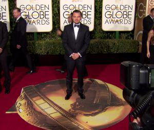 Leonardo DiCaprio sur le tapis-rouge des Golden Globes 2016