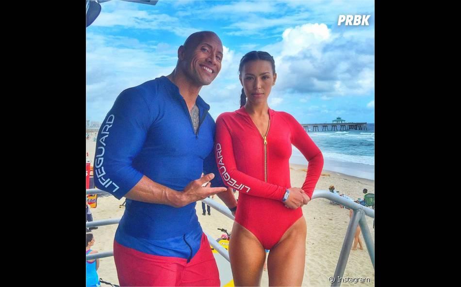 Alerte à Malibu : Dwayne Johnson et Ilfenesh Hadera sur le tournage du film à Miami