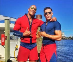 Alerte à Malibu : Zac Efron et Dwayne Johnson sur le tournage du film à Miami