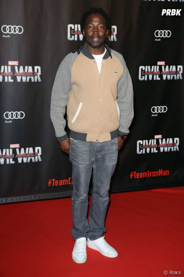 Noom Diawara sur le tapis rouge du Grand Rex