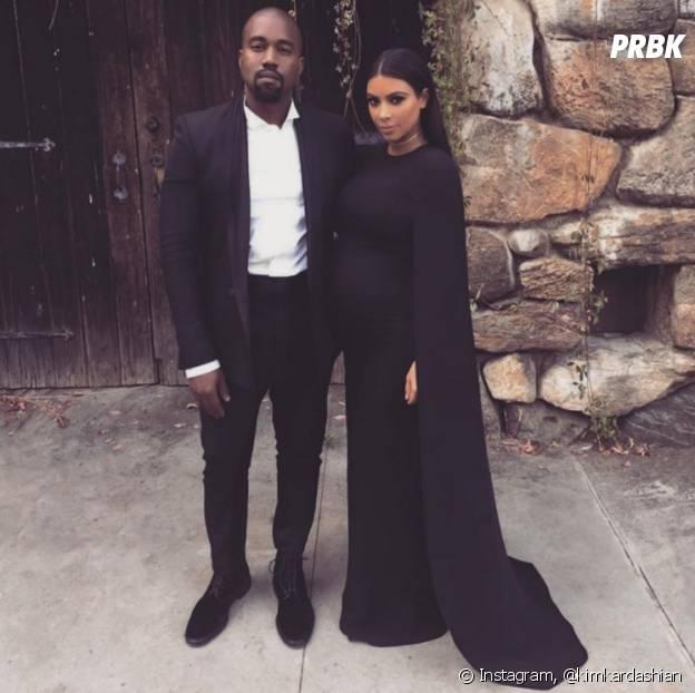 Kim Kardashian et Kanye West, aujourd'hui mariés et parents de deux enfants.