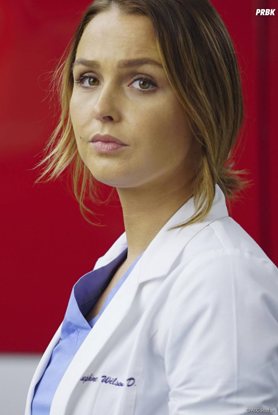 Grey's Anatomy saison 12, épisode 21 : Jo (Camilla Luddington) sur une photo