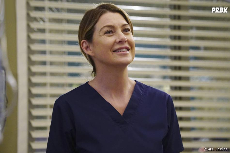 Grey's Anatomy saison 12, épisode 21 : Meredith (Ellen Pompeo) sur une photo