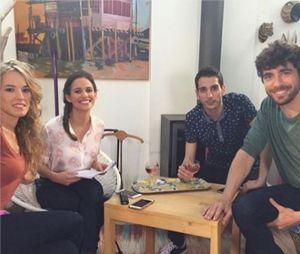 Clem saison 7 : Elodie Fontan, Lucie Lucas, Kevin Larbi et Agustin Galiana sur le tournage