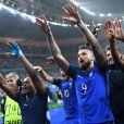 Les Bleus célèbrent leur victoire après le match France-Islande le 3 juillet 2016