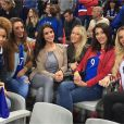 Les WAGS prennent la pose pendant le match France-Islande le 3 juillet 2016