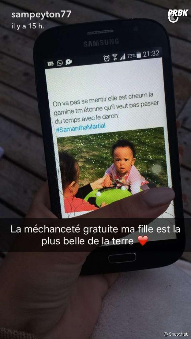 Samantha Martial défend sa fille Peyton sur Snapchat.