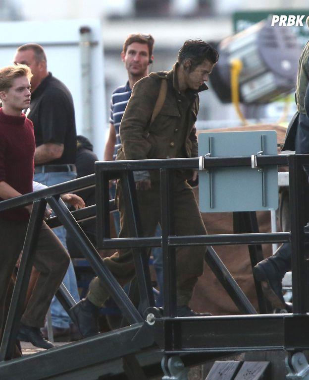Harry Styles sur le tournage de Dunkirk en Angleterre