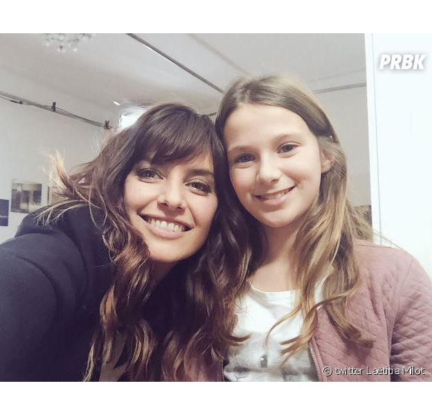 Laëtitia Milot et Clara, qui joue sa fille Lou dans la Vengeance aux yeux clairs.