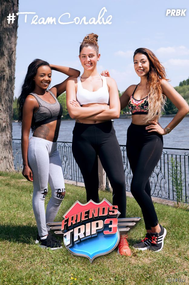Coralie Porrovecchio, Romina et Caroline dans Friends Trip 3