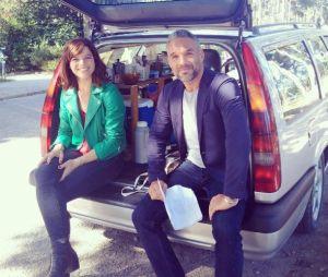 Profilage saison 7 : Juliette Roudet et Philippe Bas sur le tournage