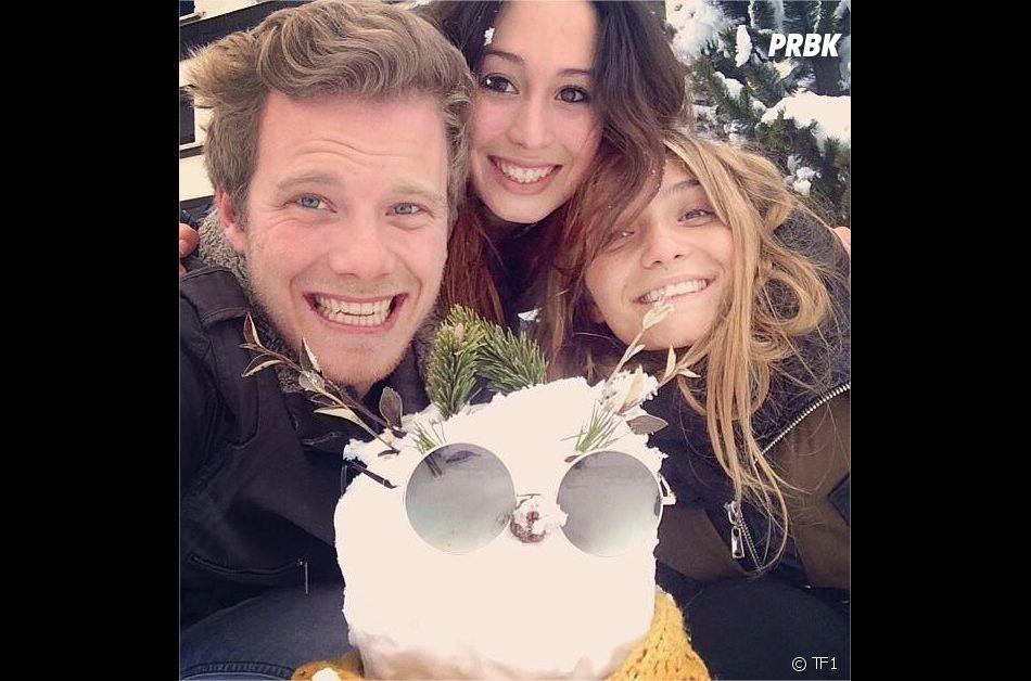 Emilie Carrère (Secret Story 7) pose avec Clara Bermudes et Guillaume Ruchon