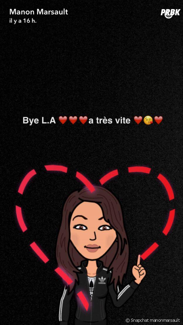 Manon Marsault a quitté Los Angeles