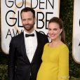 Natalie Portman et Benjamin Millepied sur le tapis-rouge des Golden Globes 2017 le 8 janvier à Los Angeles