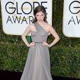 Anna Kendrick sur le tapis-rouge des Golden Globes 2017 le 8 janvier à Los Angeles