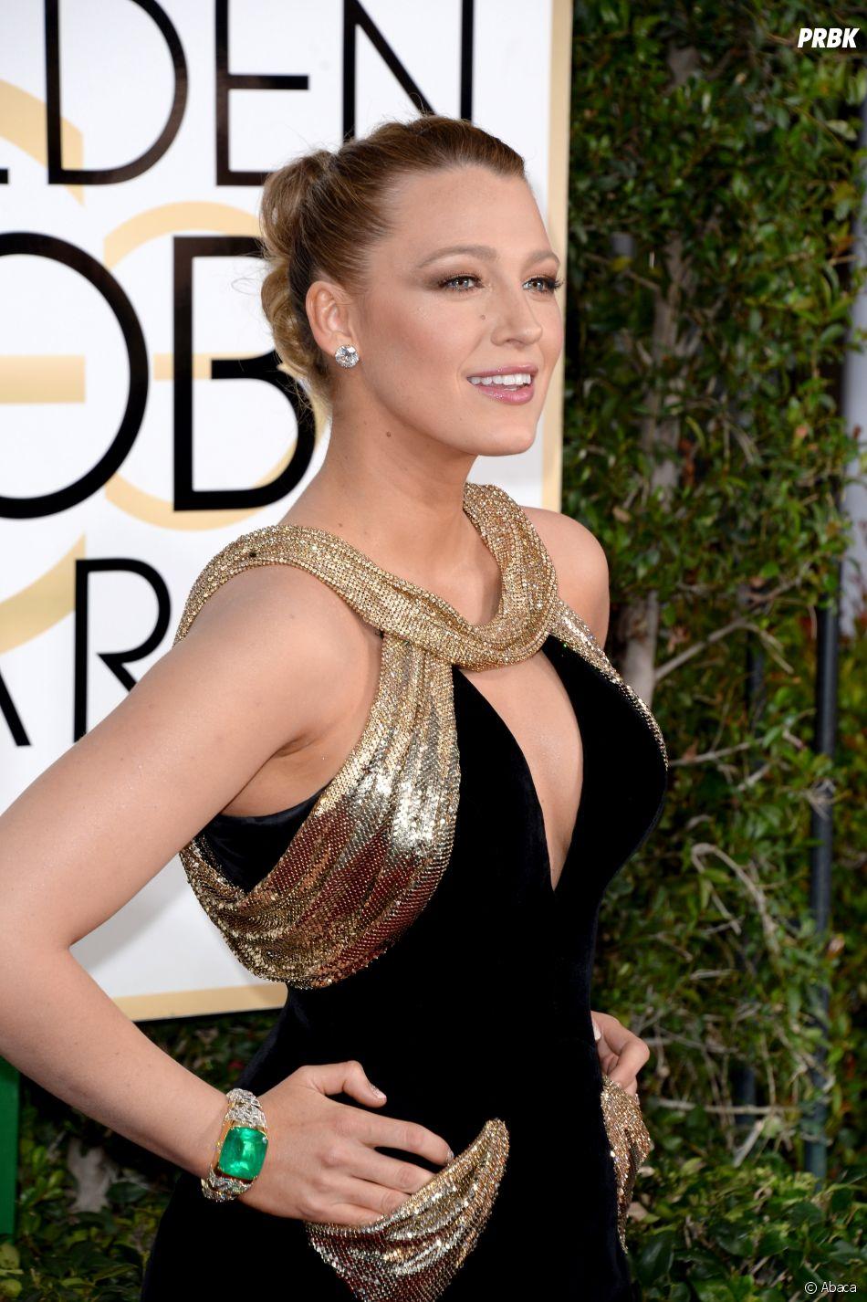 Blake Lively sur le tapis-rouge des Golden Globes 2017 le 8 janvier à Los Angeles