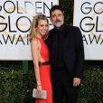 Hilarie Burton et Jeffrey Dean Morgan sur le tapis-rouge des Golden Globes 2017 le 8 janvier à Los Angeles
